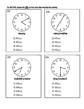 Clock and Elapsed Time Test