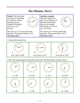 Clock and Time, grades 1-2
