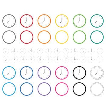 Clock clip art, telling time
