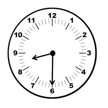 Clock clipart half past the hour(freebie)
