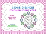 Clock display - 5 minute intervals - Telling the time