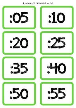 Clock display labels