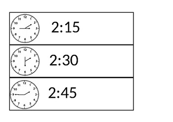 Clock face and Digital Visual Timetable