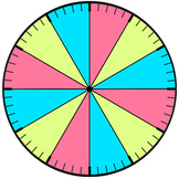 Clock face that separates the hour by colors- FREE visual aid for teaching time