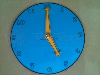 Clock face with moveable hands