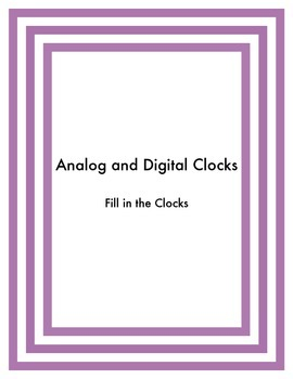 Telling Time (clock faces)