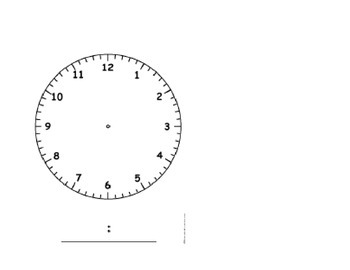 Clock for Morning Meeting Saxon Math