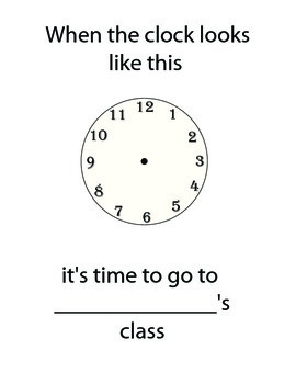 Clock for pull-out classes