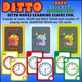 Clock fun with Ditto - 6 decks of cards