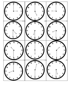 Clock go-fish memory French