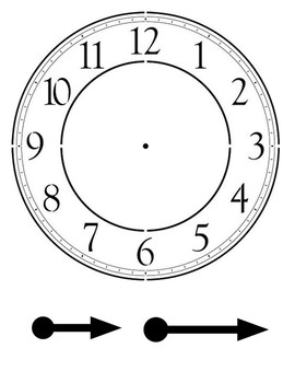 clock hands by andrew casey teachers pay teachers rh teacherspayteachers com clock without hands clip art