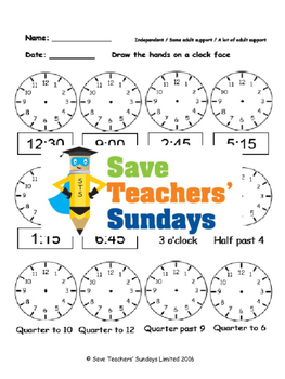 Clock hands lesson plans, worksheets and more