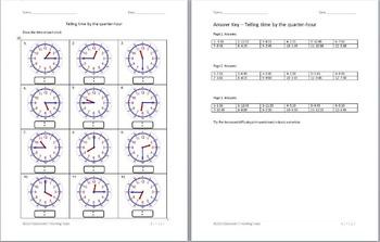 Clock manipulatives + Time worksheets Bundle