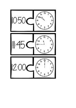Clock matching puzzles
