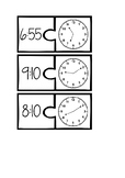 Clock matching puzzles