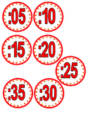 Clock minute labels