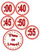 Clock minute labels