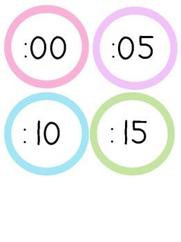 Clock numbers Freebie