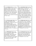 Clock of Eras Information Cards- Montessori 6-9