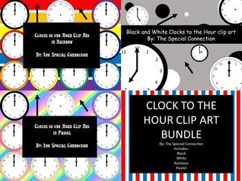 Clock to the Hour Clip Art Bundle