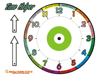 Clock/Time Helper packet; Targets common student analog clock mistakes
