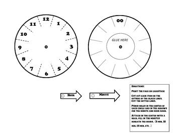 Clock/Time foldable