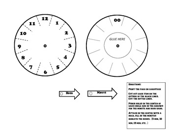 Clock/Time foldable
