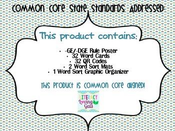 -GE/-DGE Spelling Rule with QR Codes