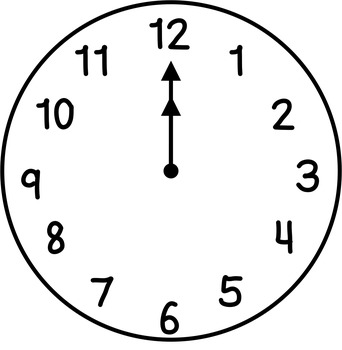 Clocks Clip Art: Hour & Half Hour