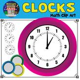 Clocks Clip Art - Math - Analog Clocks
