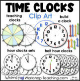 Clocks Clip Art Set - Whimsy Workshop Teaching