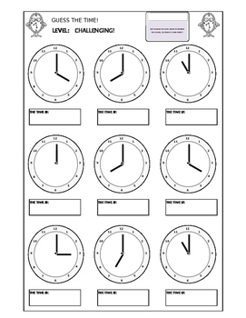 Clocks - Guess The Time