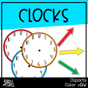 Clocks (Hour & Minute Hand) Cliparts