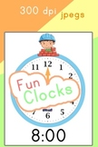 Clocks - Learn to tell time with these fun and colorful clocks!
