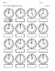 Clocks - Tell Time to the nearest Hour, Half Hour, Quarter