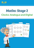 Clocks: Telling Time Worksheet, Analogue and Digital ACMMG020