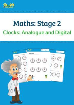 Clocks: Telling Time Worksheet, Analogue and Digital ACMMG020