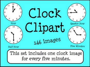 Clocks Telling Time Clip Art 5 Minute... by Workaholic NBCT ...