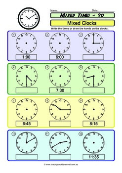 Clocks (Time) 120 + pages SAMPLE