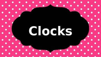 Clocks and Time PowerPoint
