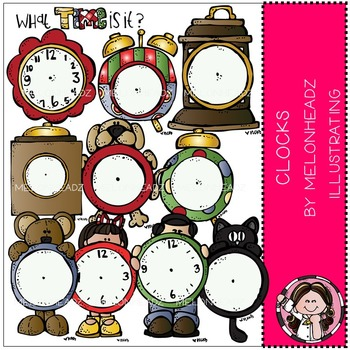 Melonheadz: Clocks clip art - COMBO PACK