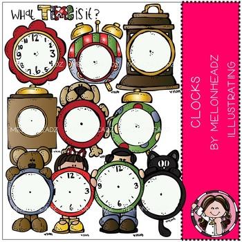 Melonheadz: Clocks clip art - COMBO PACK