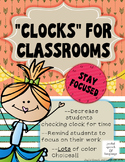 """Clocks"" for Classrooms and Offices - Remind Students to Focus on Work!"