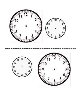 Clocks for Math Journal