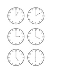 Clocks for Math Lab