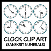 Clocks in Sanskrit or Hindi Language - Intervals of 5