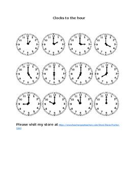 Clocks to the Hour