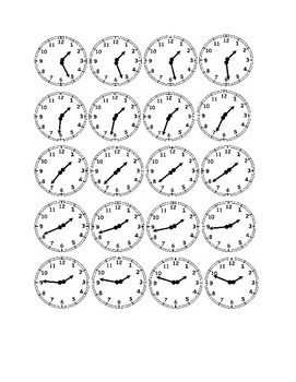 Clocks to the Minute - One O'Clock times
