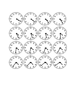 Clocks to the Minute - Four O'Clock Times