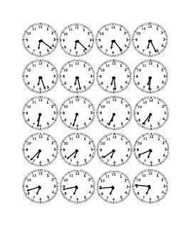 Clocks to the Minute - Six O'Clock Times
